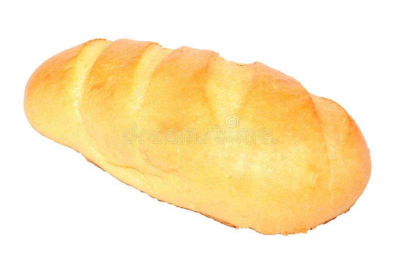 长被烘烤的新鲜的大面包 免版税库存图片