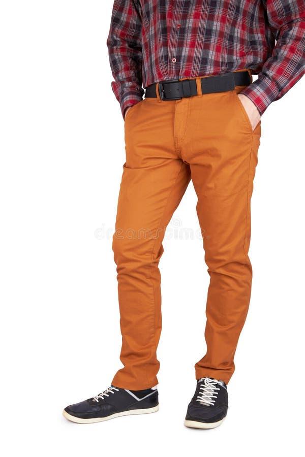 长裤的人 免版税图库摄影