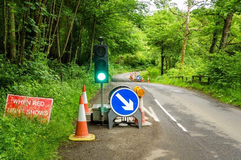 长跑训练标志和红绿灯 库存图片