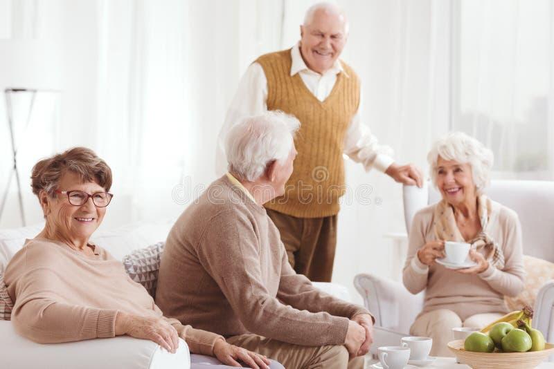 长辈两对夫妇  免版税库存图片
