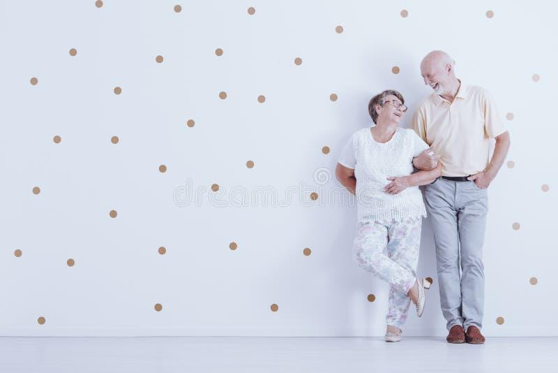 长辈夫妇  库存图片