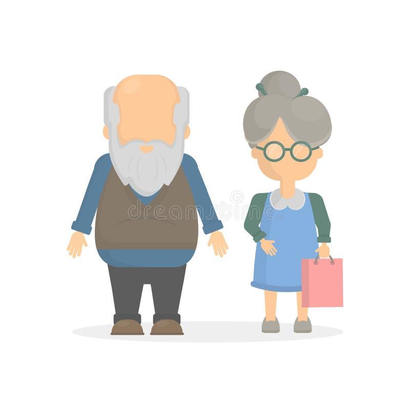 长辈夫妇 库存例证