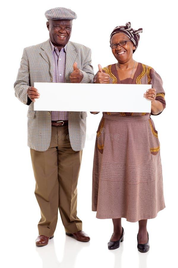 年长非洲夫妇横幅 免版税图库摄影