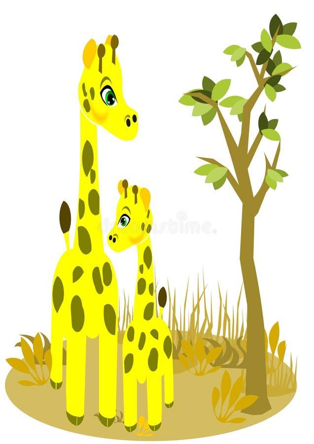 长颈鹿儿子 皇族释放例证