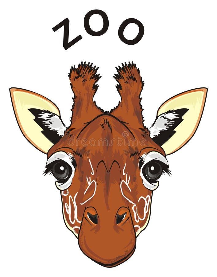 长颈鹿和黑词的面孔 向量例证