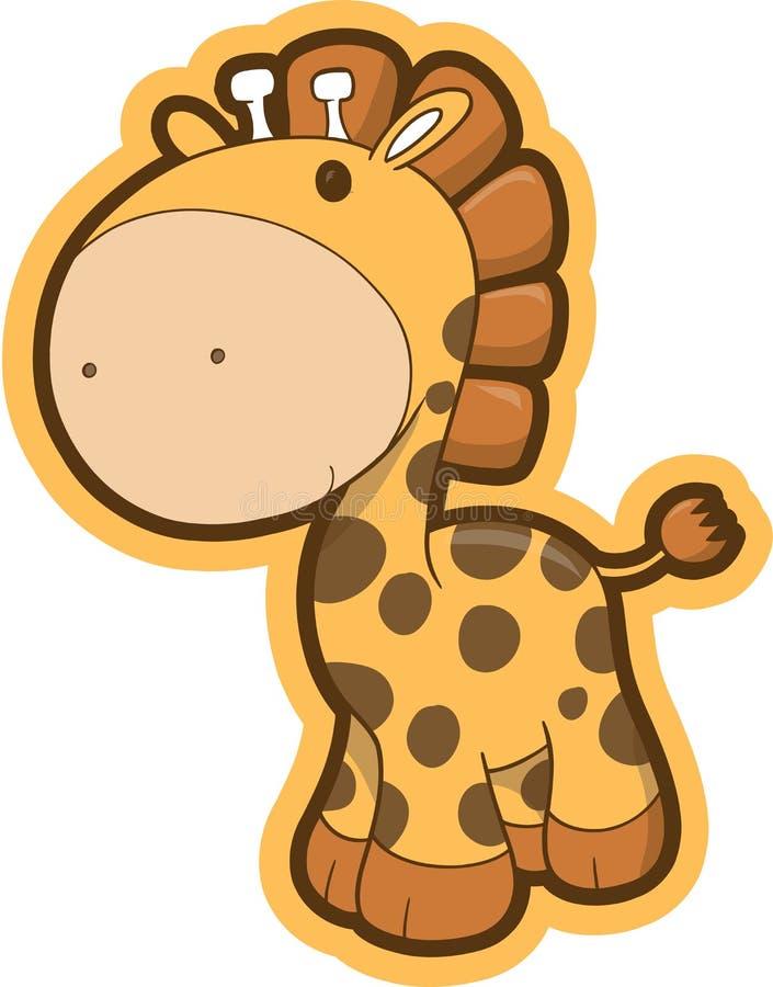 长颈鹿徒步旅行队向量 向量例证