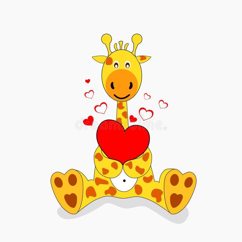 长颈鹿爱 皇族释放例证