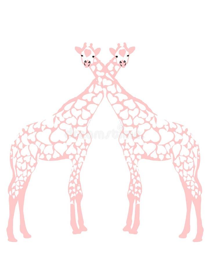 长颈鹿爱 库存例证