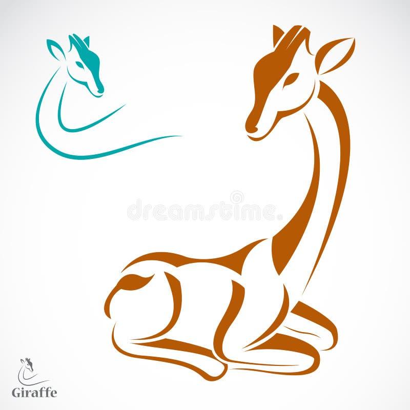 长颈鹿的传染媒介图象 库存例证