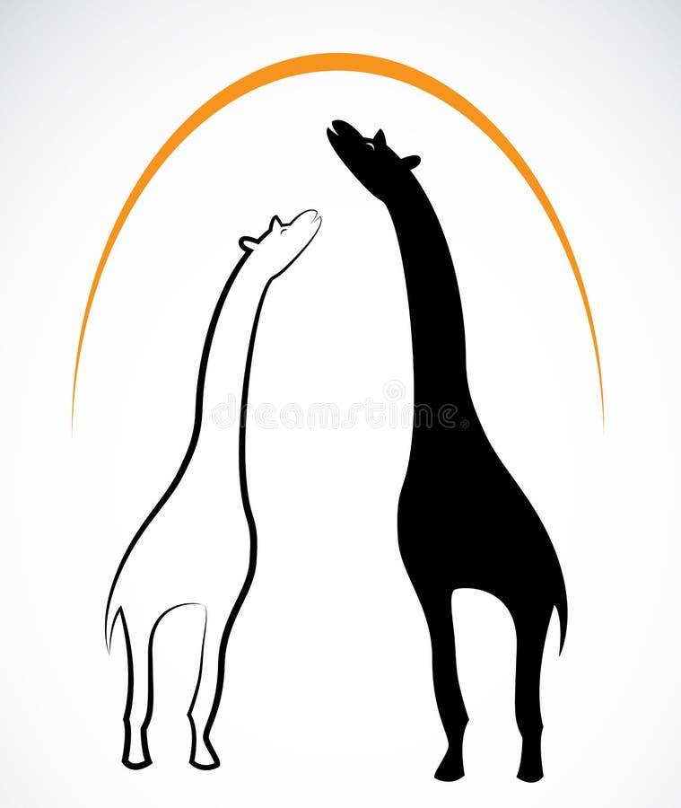 长颈鹿的传染媒介图象 向量例证