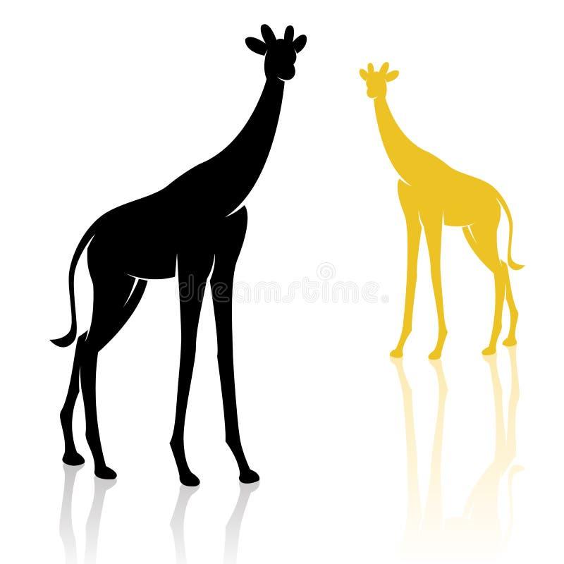 长颈鹿的向量图象 皇族释放例证