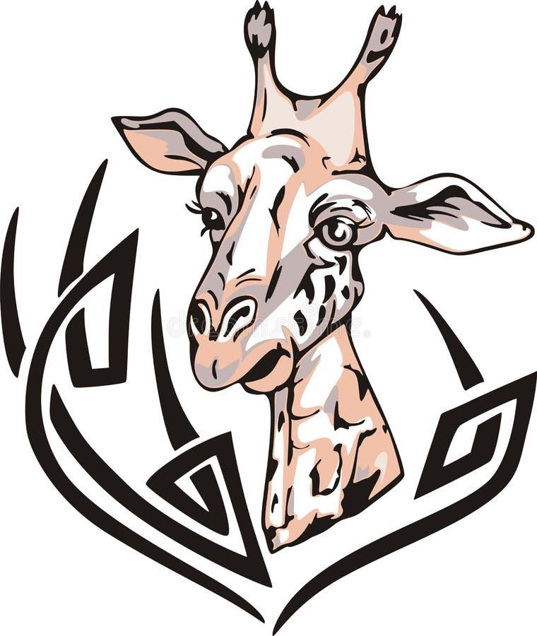 长颈鹿纹身花刺 皇族释放例证