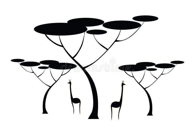 长颈鹿结构树 皇族释放例证