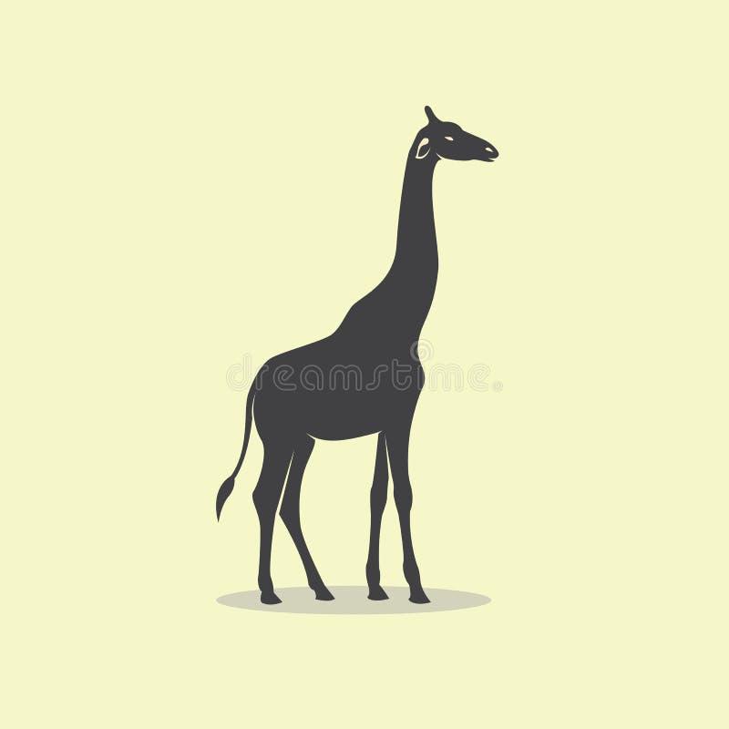 长颈鹿设计的传染媒介图象 皇族释放例证