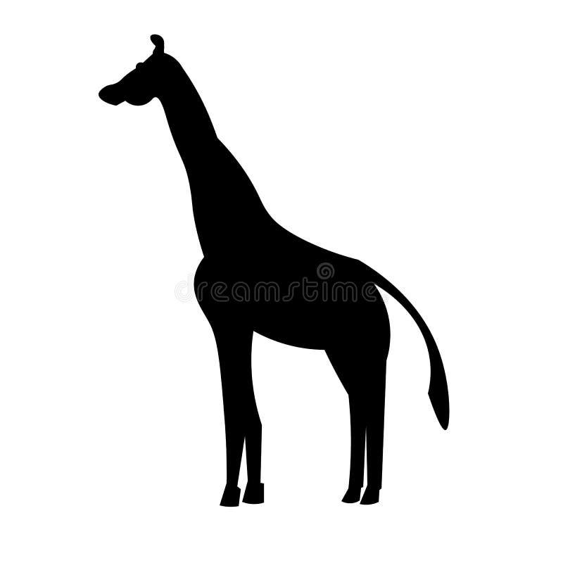 长颈鹿象传染媒介 库存例证
