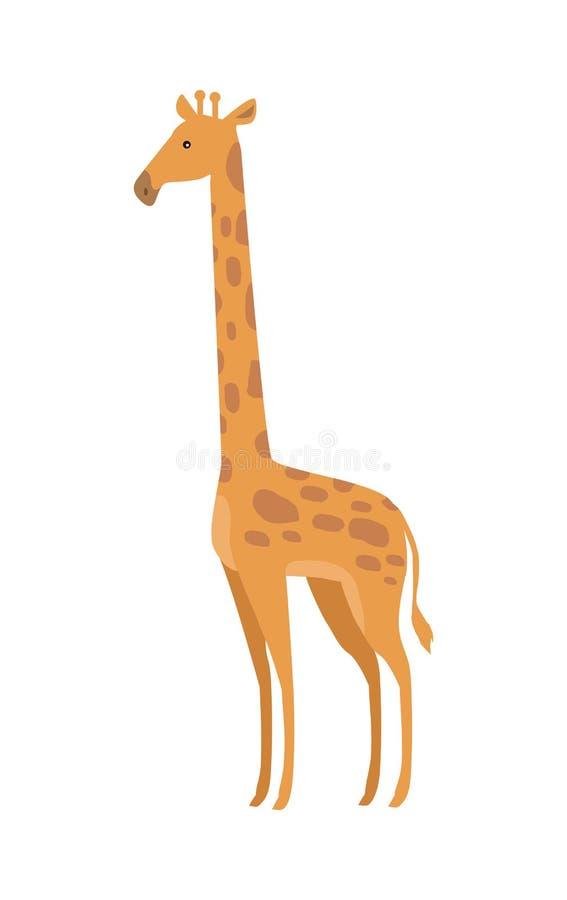 长颈鹿Camelopardalis动画片动物 向量例证