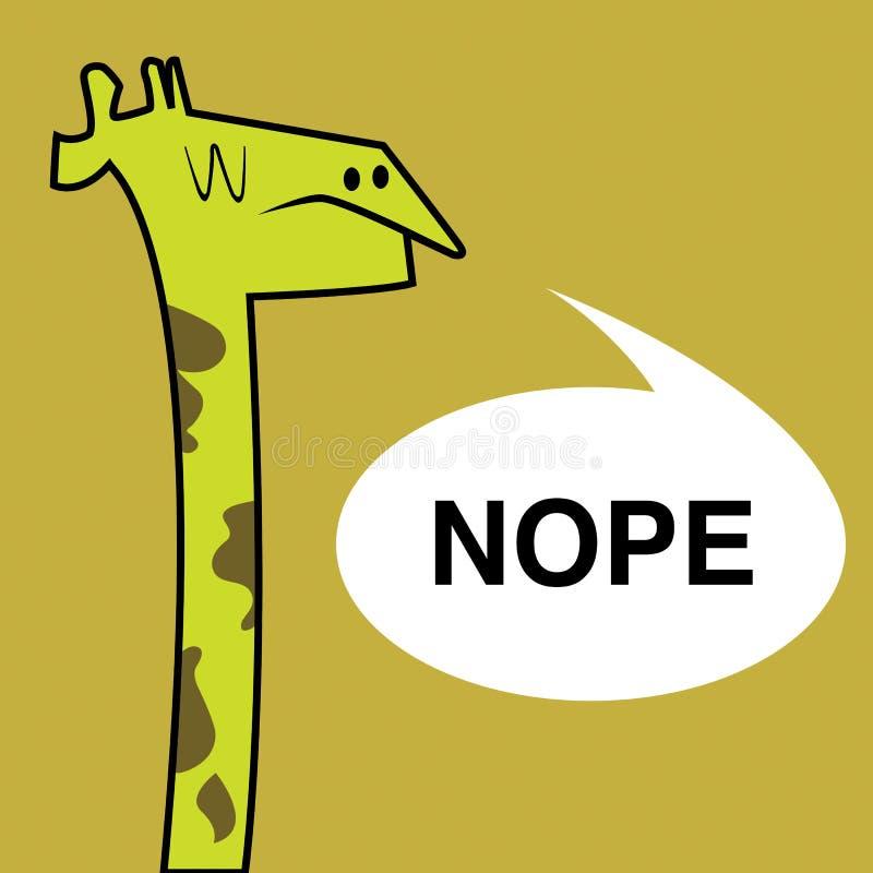 长颈鹿Nope 免版税图库摄影