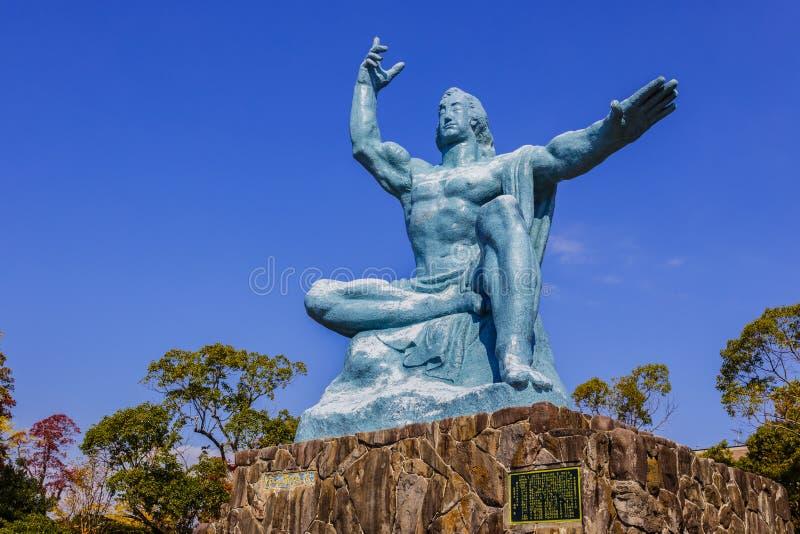 长崎和平纪念碑 库存照片