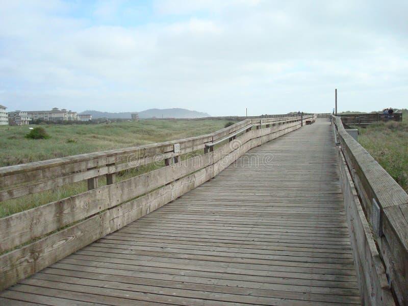 长滩木板走道 库存照片
