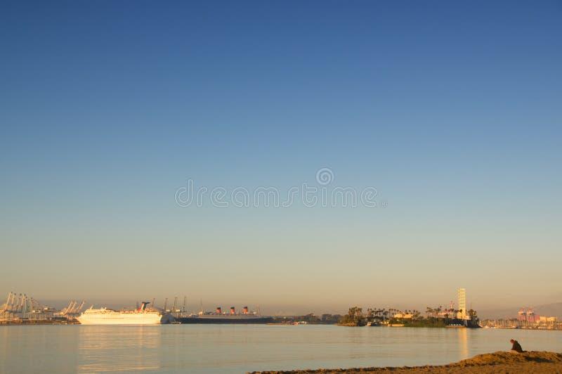 长滩港口 图库摄影
