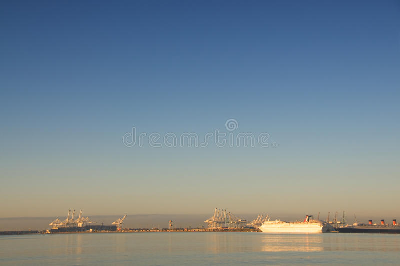长滩港口 库存照片