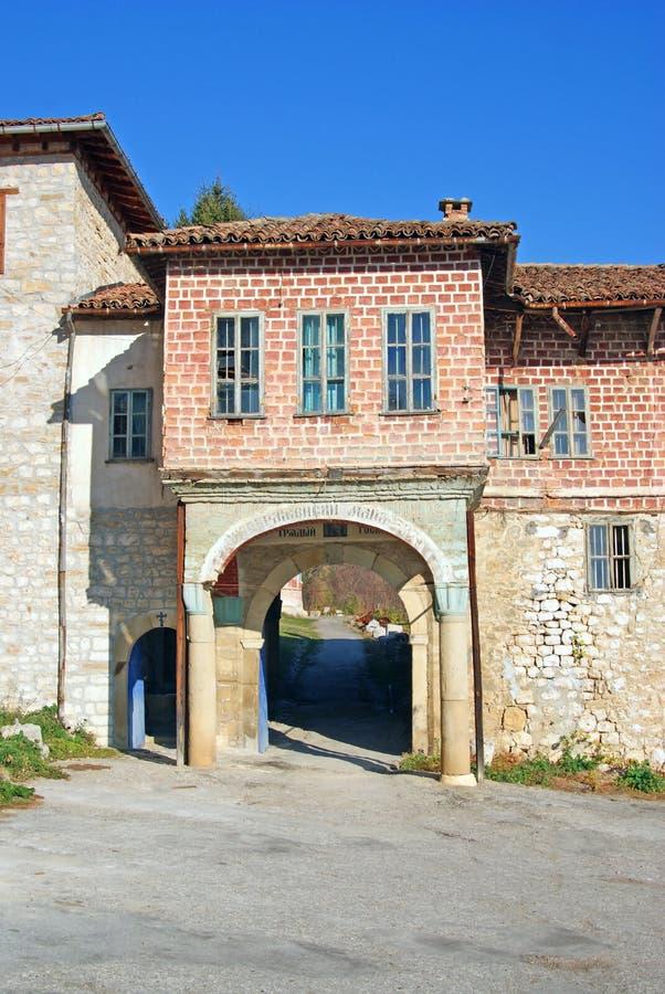 门中世纪修道院正统 图库摄影