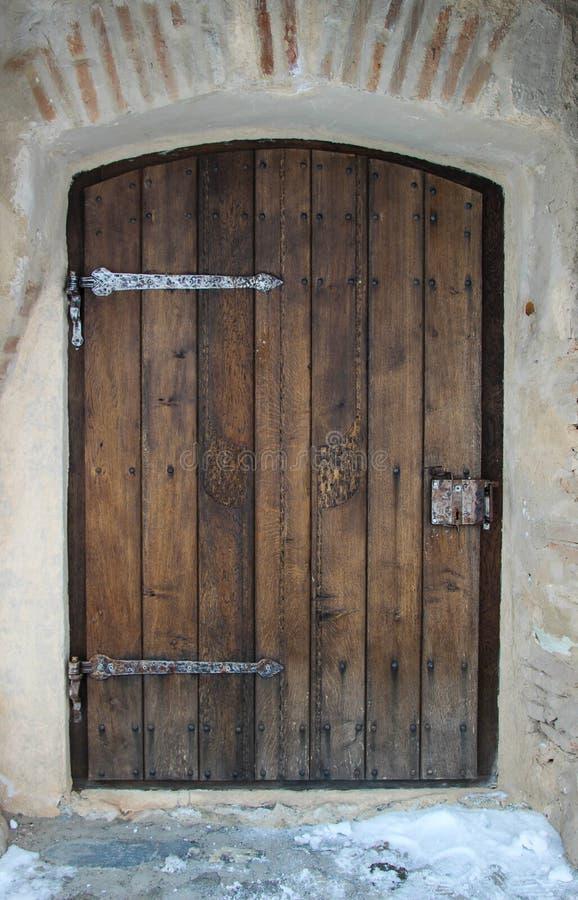 门中世纪木 图库摄影