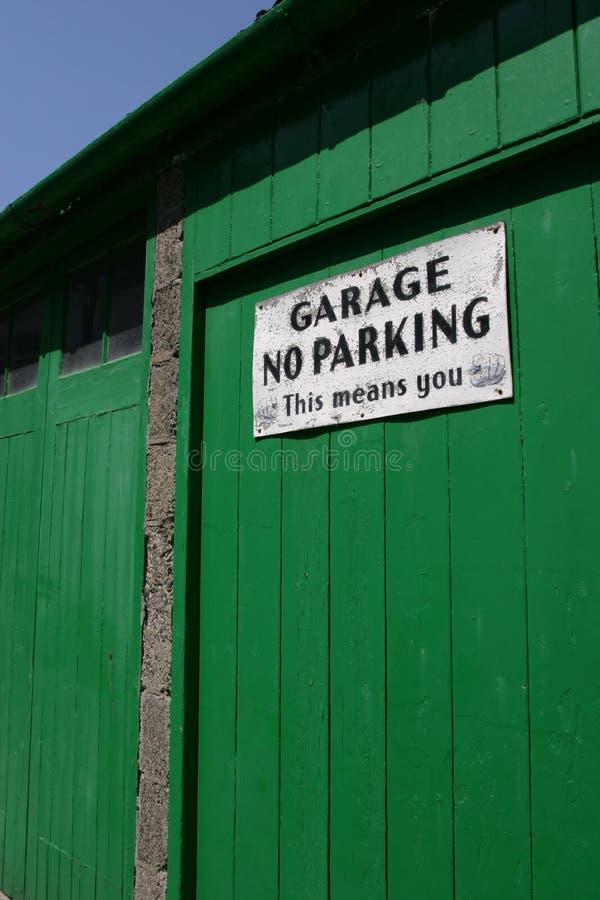 门停车库 库存照片