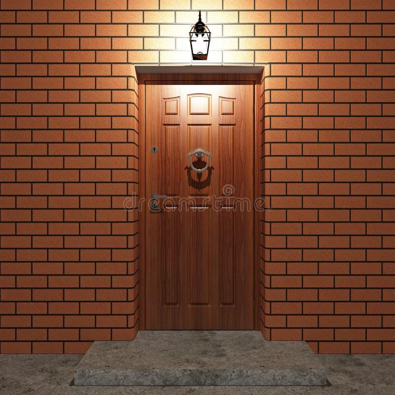 门入口 库存例证
