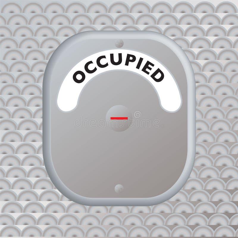 门占用的安全 皇族释放例证