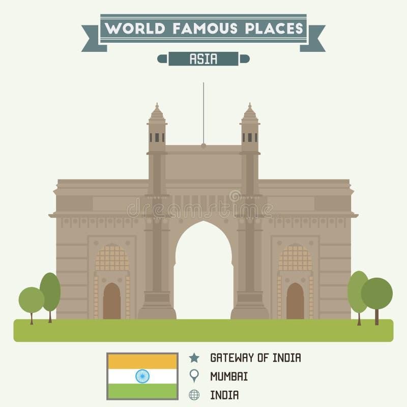 门印度mumbai 孟买 皇族释放例证