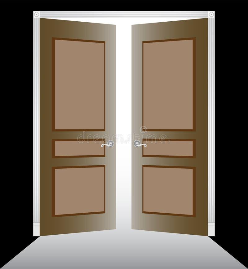 门双造型 库存例证