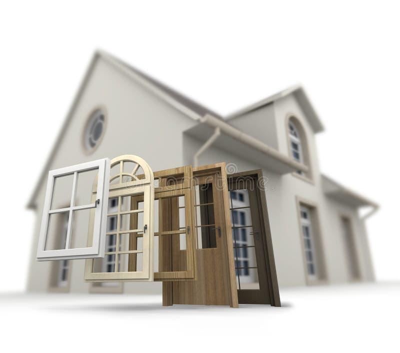 门和窗口替换 免版税库存图片