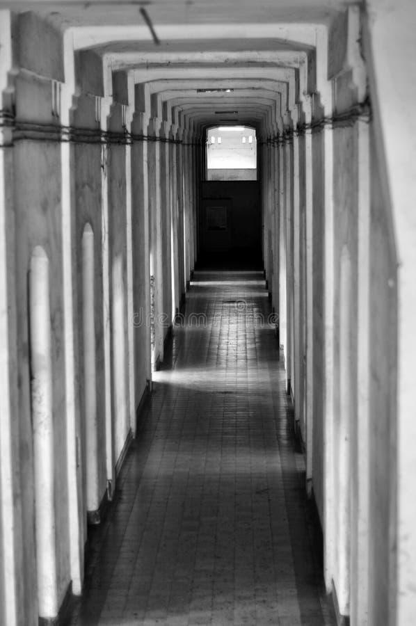 门和走廊修造 免版税库存照片