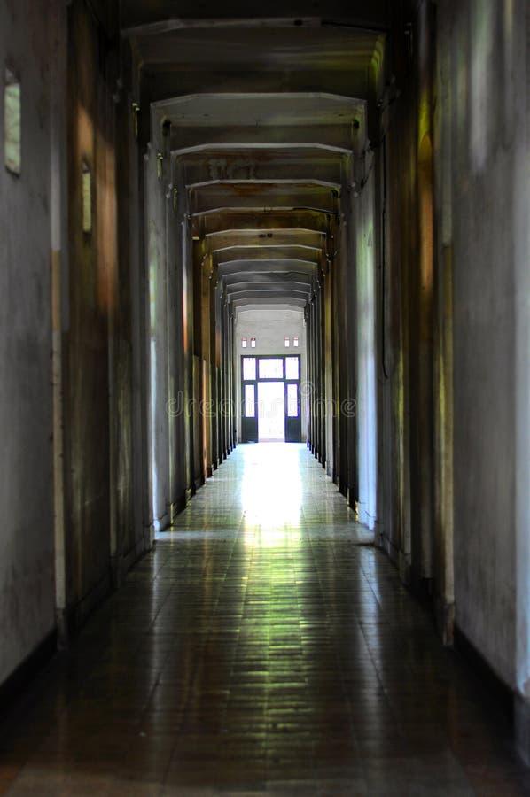 门和走廊修造 免版税库存图片