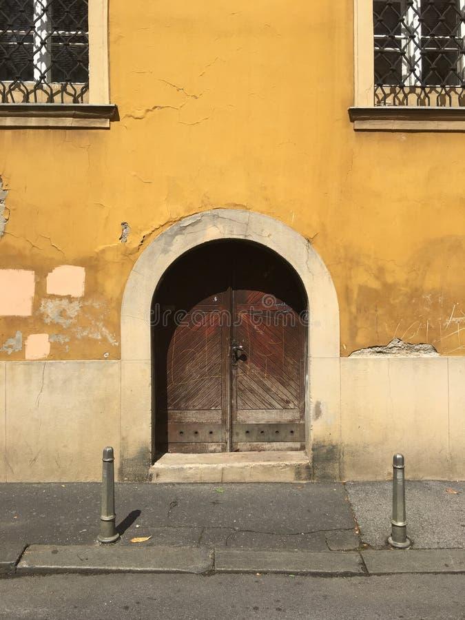 门在老镇萨格勒布 免版税库存图片