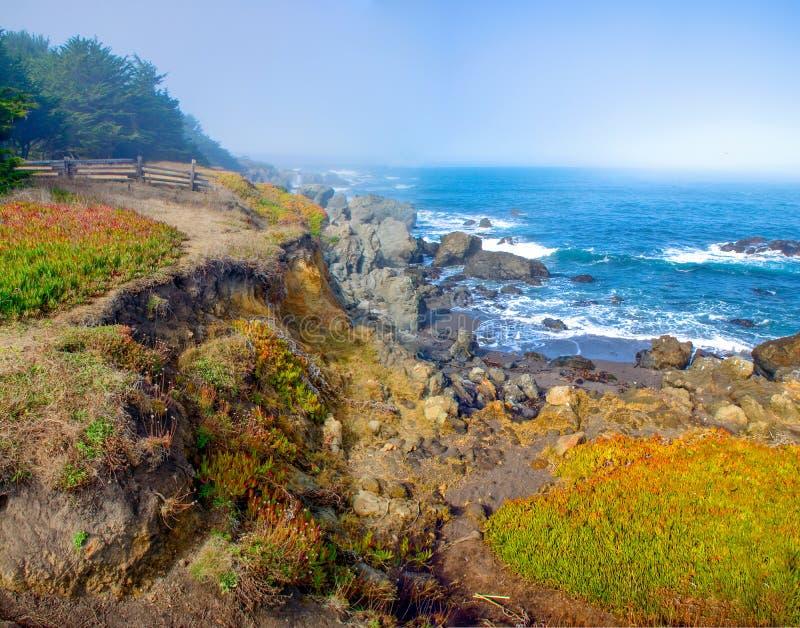 门多西诺郡海洋虚张声势 库存图片