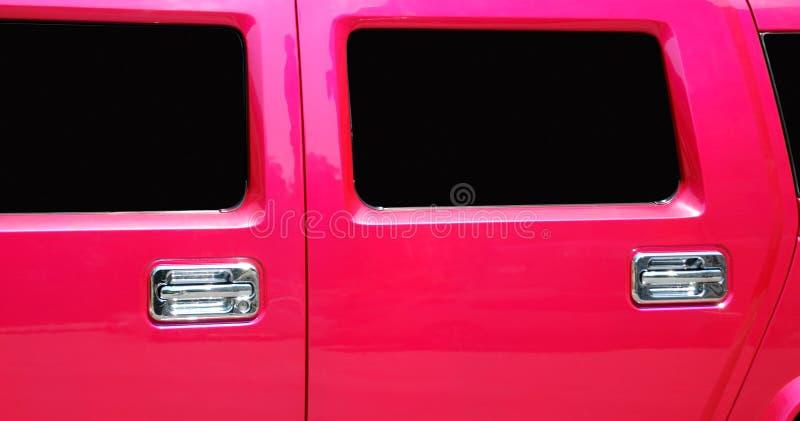门大型高级轿车视窗 图库摄影