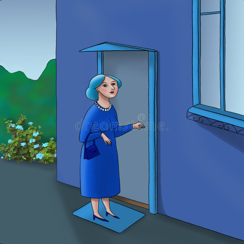 门妇女 向量例证