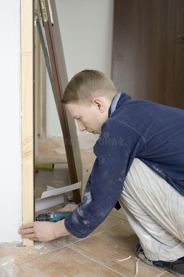 门安装 免版税库存图片