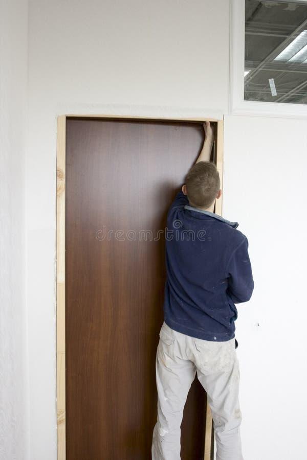 门安装 库存照片