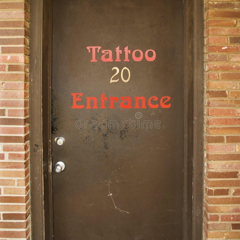 门客厅纹身花刺 免版税库存照片