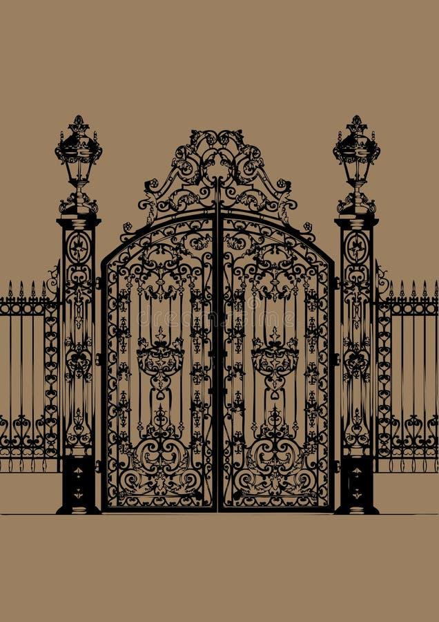 门宫殿 皇族释放例证