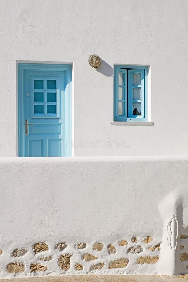 门希腊海岛视窗 免版税图库摄影