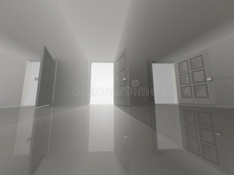 门开张了三 向量例证