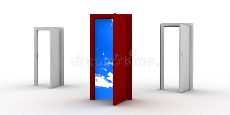 门开张 向量例证