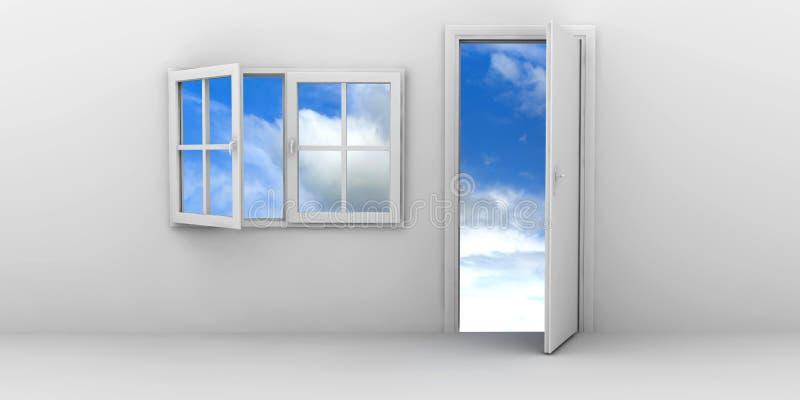 门开窗口 库存例证