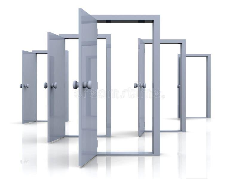 门开辟可能性 向量例证
