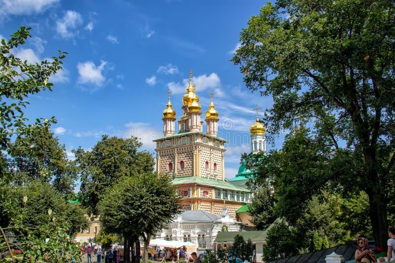 门户圣约翰圣诞教堂浸礼会教友在Sergiev Posad 免版税库存图片
