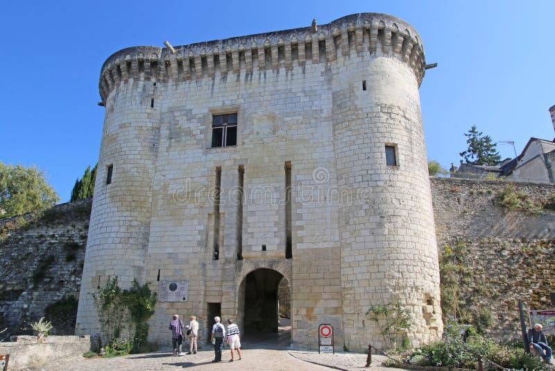 门户在洛什,法国 免版税图库摄影